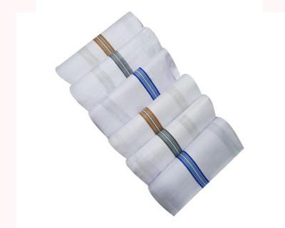 Aadishwar Creations Men's White Handkerchief