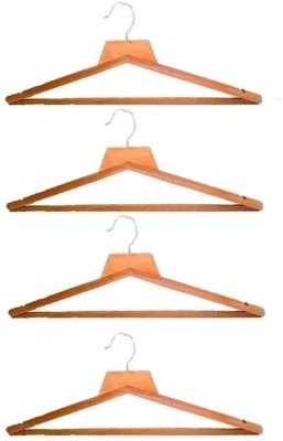 Addyz Wooden Pack of 4 Cloth Hangers