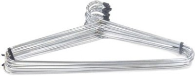 TG,s Glossy Stainless Steel Pack of 12 Cloth Hangers
