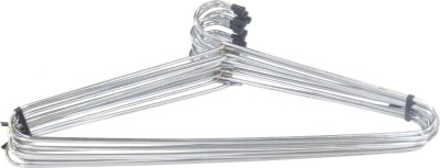 Handy Monas Glossy Stainless Steel Pack of 12 Cloth Hangers