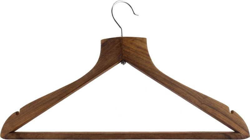 Dinette Wooden Pack of 6 Cloth Hangers(Brown)