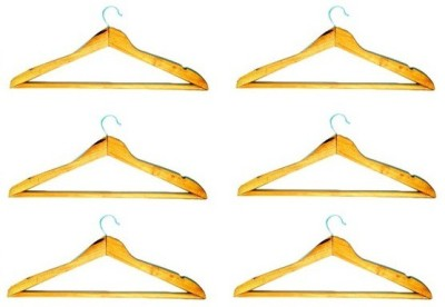Addyz Wooden Pack of 6 Cloth Hangers