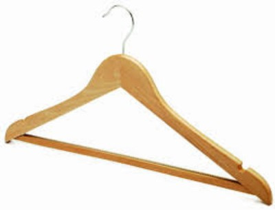 Magnusdeal Wooden Pack of 3 Cloth Hangers
