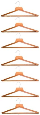 Addyz Wooden Pack of 7 Cloth Hangers
