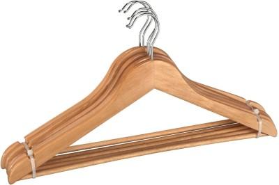 Wenko Wooden Pack of 5 Cloth Hangers