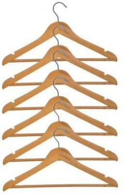 Tougully Wooden Pack of 6 Cloth Hangers