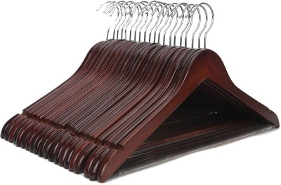 AADYA Wooden Pack of 50 Cloth Hangers