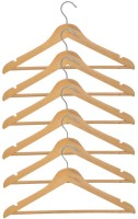 Combi Delight Wooden Pack of 6 Cloth Hangers(Brown)