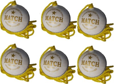 Port PSI Leather Hanging Ball for Cricket(Pack of 6)