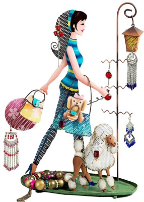Bali Mantra Girl with Poodle Jewellery Organizer