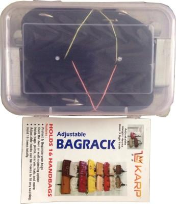 KARP Adjustable 2 Straps (8 Hooks each) Door Hanger Rack for Hat, Bag, and Clothes Handbag Organizer