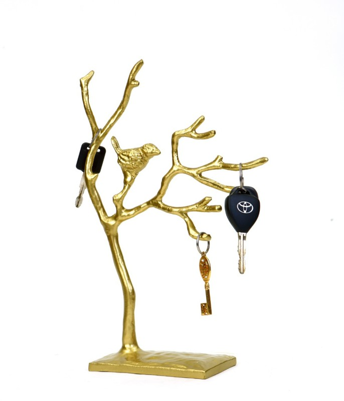 Deziworkz Tree Jewellery-cum-key Holder Organiser - showpiece Display Stand Accessories Organizer( )