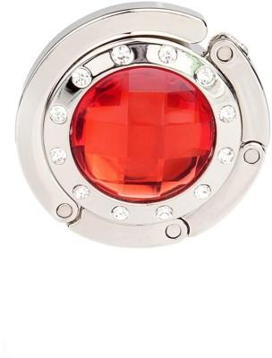 KARP Rhinestones Diamond Portable Foldable Purse Lock Hanger/Holder/Table Hook for Ladies-Red Handbag Organizer