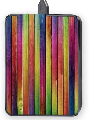 Shopkeeda Colorfull Wood Texture Hard Disk Skin By Shopkeeda Hard Disk Skin