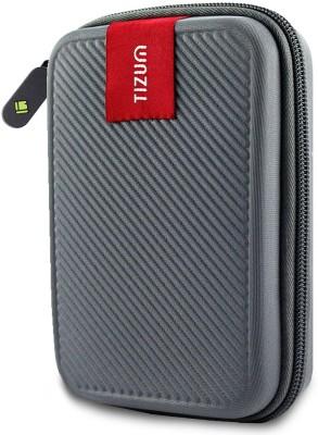 TIZUM Hard Drive Case 2.5 inch Double Padded(For 2.5-Inch Hard Drive, Grey)
