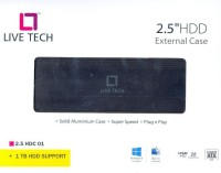 Live Tech LT - 2.5 Laptop Ext SATA Hard Disk Case(For All 2.5 inches Laptop Internal Hard Drive, Black)