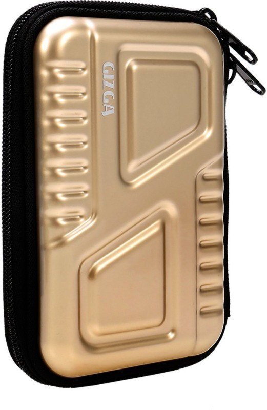 Gizga Essentials Drive Case 2.5 inch Metallic Hard Disk Armour(For 2.5 inch Hard Drive, Gold)