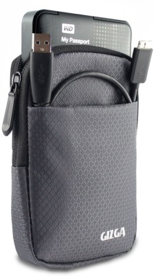 Gizga essentials Hard Drive Case 2.5 inch Impact Resistant Jacket Pouch(For 2.5 inch Hard Drive, Slate Grey)