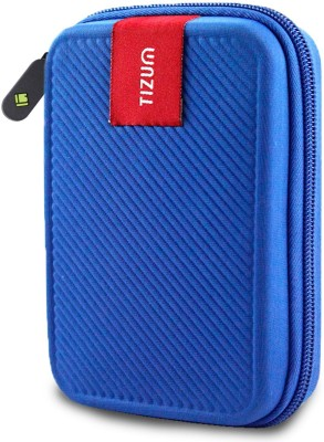 TIZUM Hard Drive Case 2.5 inch Double Padded(For 2.5-Inch Hard Drive, Blue)
