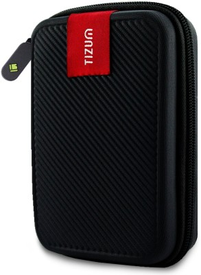 TIZUM Hard Drive Case 2.5 inch Double Padded(For 2.5-Inch Hard Drive, Black)