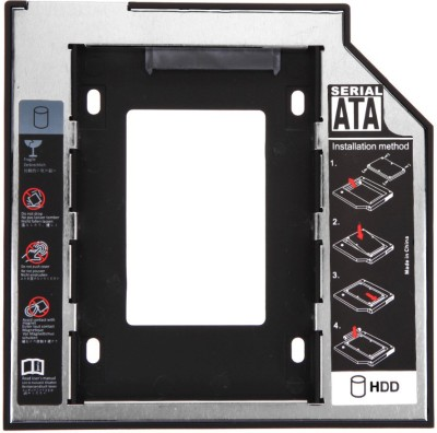 Technoax CD/DVD-ROM - 2.5 inch Harddrive enclosure(For Expand Your Data Storage On Your Laptop With HDD/SSD, Black, Grey)