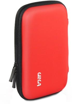 Gizga Essentials HDD 2.5 inch Hard Drive Case - Hard Shell(For 2.5 inch Hard Drive, Red)