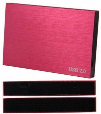 AVB Red Shining Portable Sata Casing case Usb 2.0 2.5 inch External Hard Drive enclosure