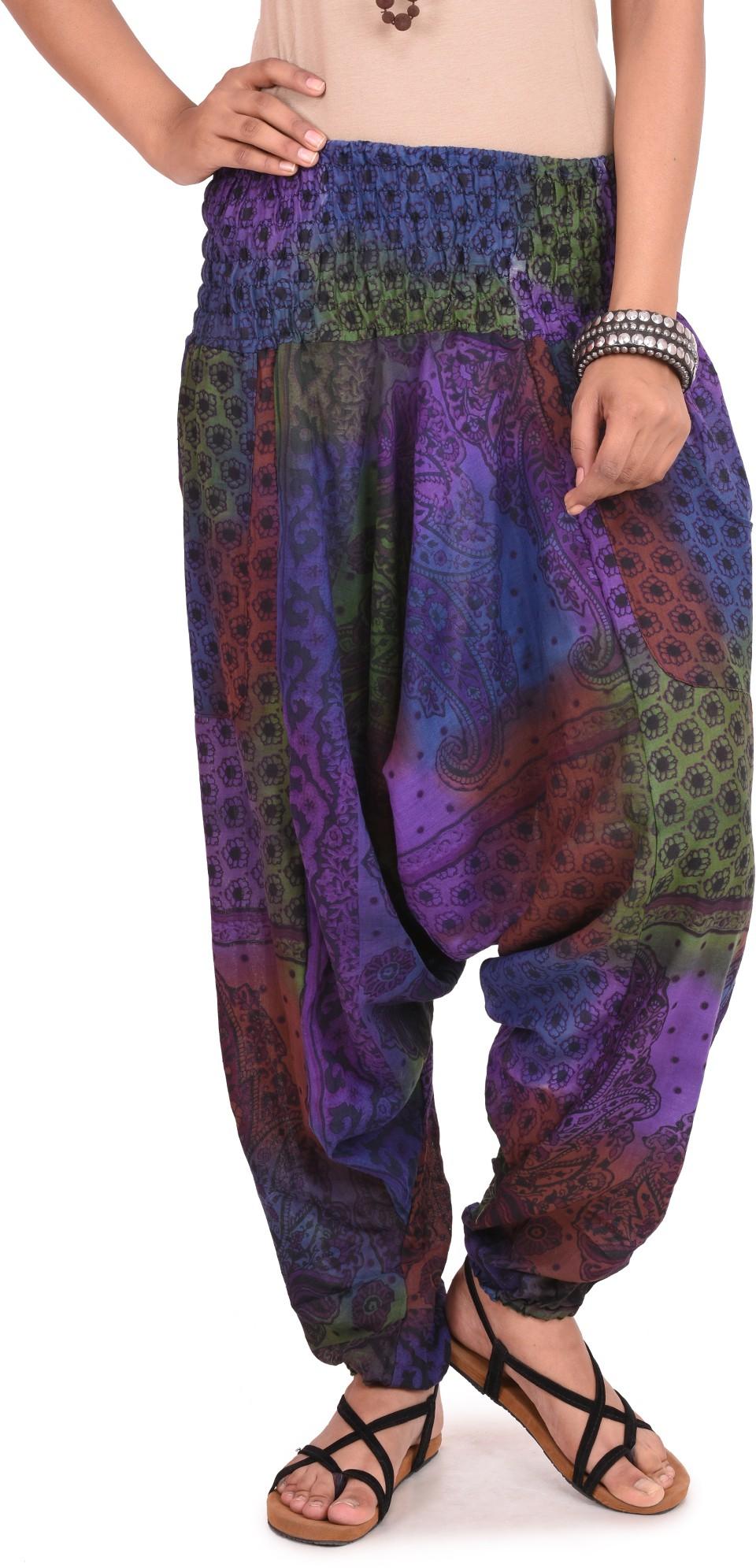 Happy Hangar Printed Poly Cotton Womens Harem Pants