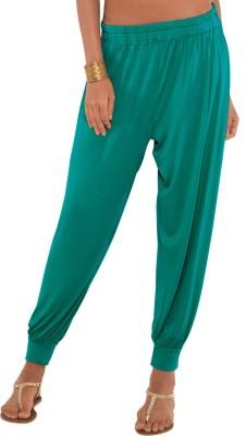 Go Colors Solid Viscose Womens Harem Pants