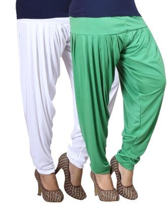 Eshelle Solid Cotton Lycra Blend Women's Harem Pants
