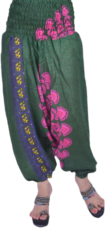 Rajasthani Handloom Printed Cotton Womens Harem Pants
