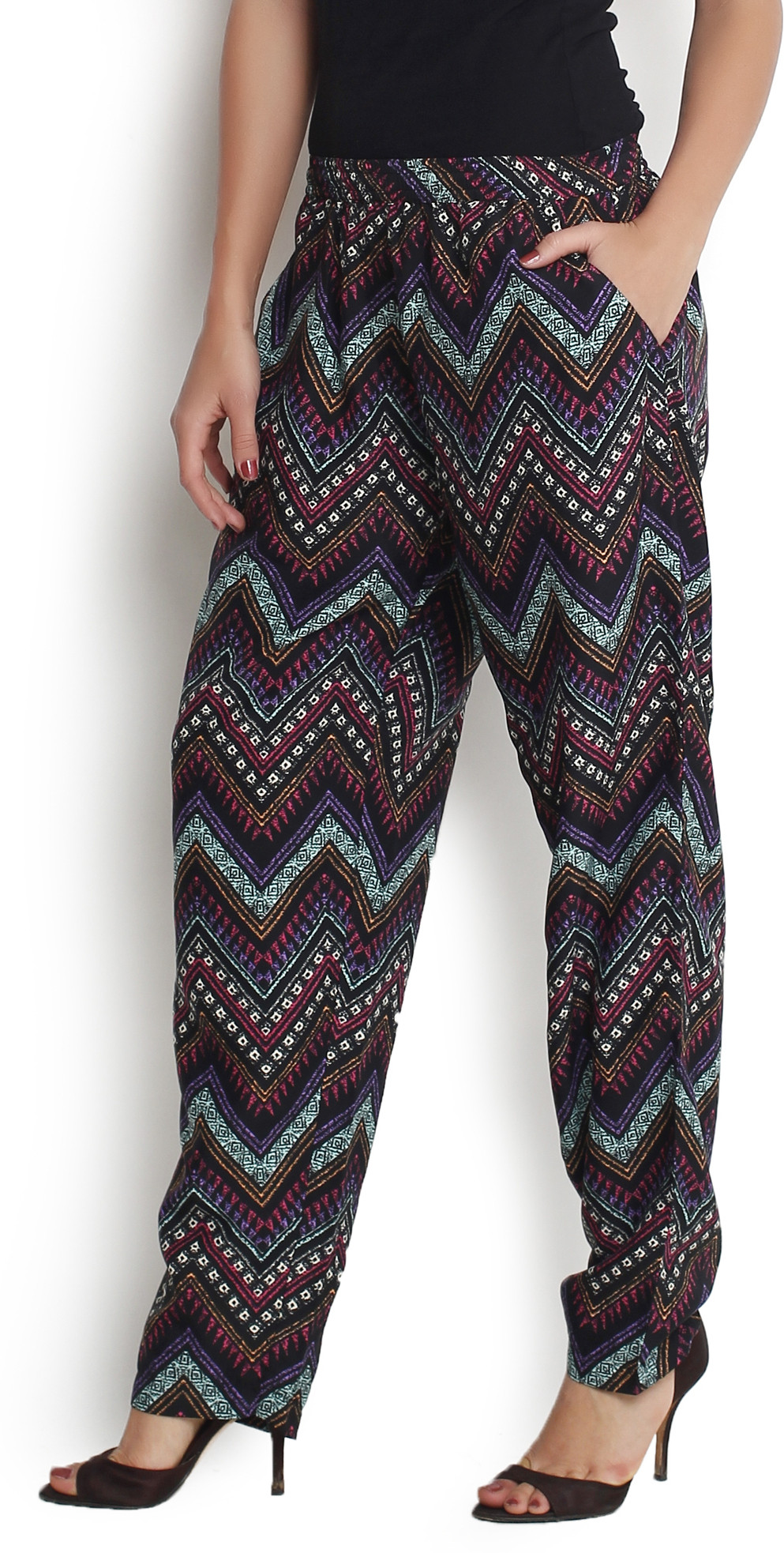 The Gud Look Printed Cotton Womens Harem Pants