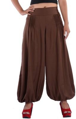 Indi Bargain Solid Viscose Womens Harem Pants