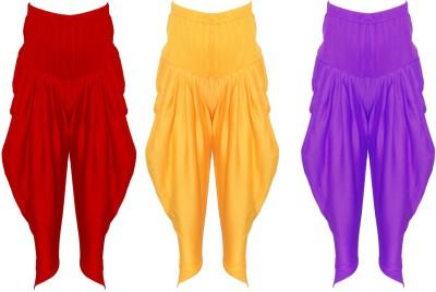 Yuhaa Solid Viscose Girls Harem Pants