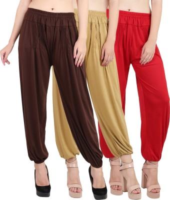 Myshka Solid Lycra Womens Harem Pants