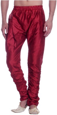 Royal Heritage Solid Art Silk Men's Harem Pants