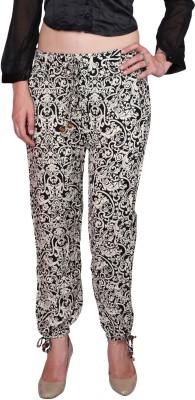 DAMEN MODE Floral Print Cotton Women's Harem Pants