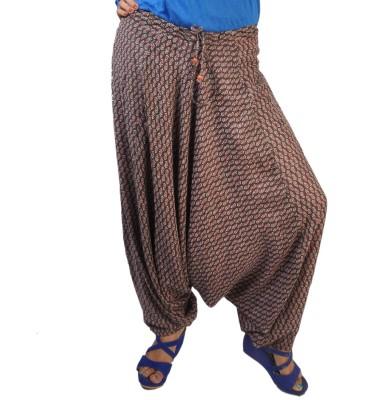 No Code Printed Poly Cotton Women's Harem Pants