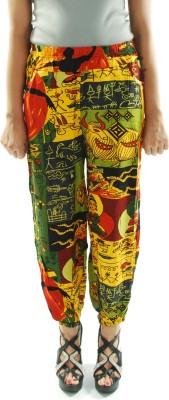 Amohaa Graphic Print Cotton Women's Harem Pants