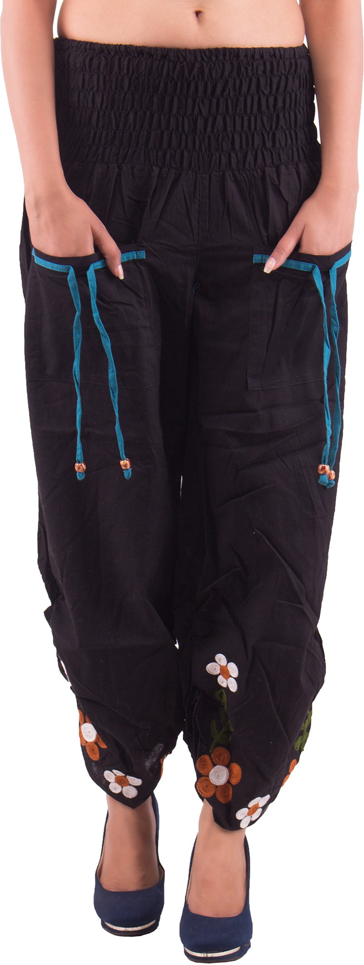 Indi Bargain Embroidered Cotton Womens Harem Pants