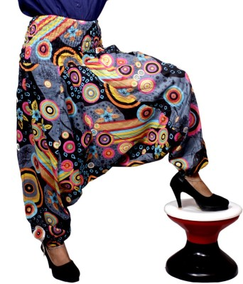 Krishna Mart Floral Print Poly Cotton Women's Harem Pants