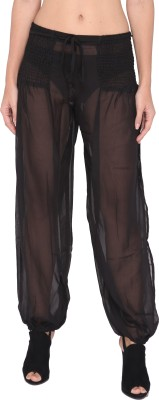 The Beach Company Solid Polyester Women,s Harem Pants