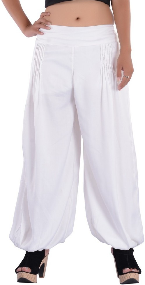 Indi Bargain Solid Viscose Womens Harem Pants