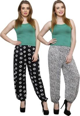 Grand Bear Printed Poly Cotton Women's Harem Pants