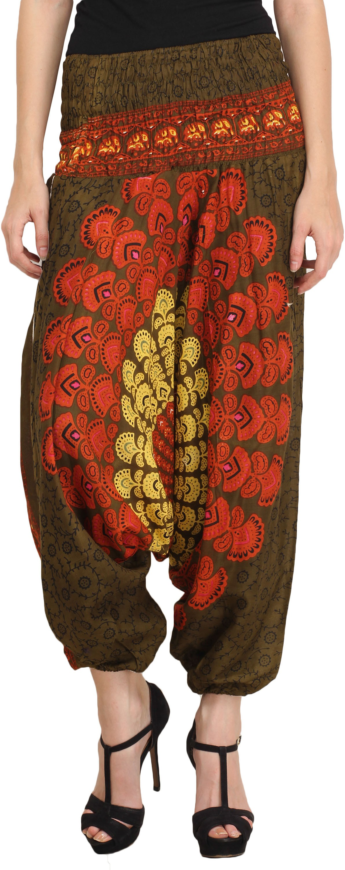 Happy Hangar Printed Viscose Womens Harem Pants