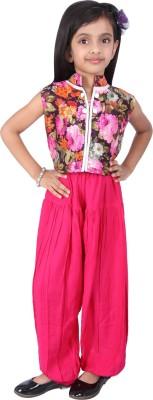 BownBee Self Design Rayon Girls Harem Pants