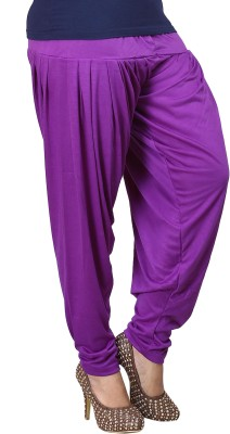 Eshelle Solid Cotton Lycra Blend Women's Harem Pants
