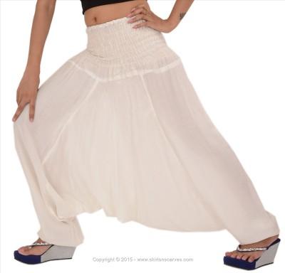 Skirts & Scarves Solid Viscose Women,s Harem Pants