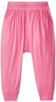Sera Solid Cotton Girl's Harem Pants