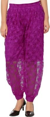 Shahfali Solid Cotton, Net Women's Harem Pants